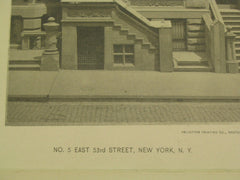 Number 5 on East 53rd Street, New York, NY, 1889