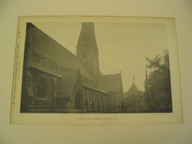 Christ Church Cathedral, Montreal, Quebec, CAN, 1889