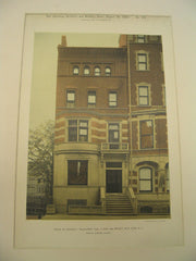 House of George J. McGourkey at 8 East 86th Street, New York, NY, 1889, John M. Duncan