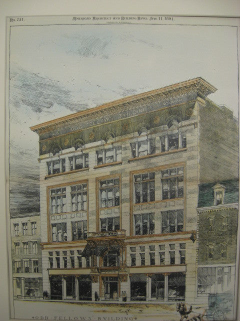 Odd Fellows' Building, Lowell, MA, 1891, Merrill and Cutler