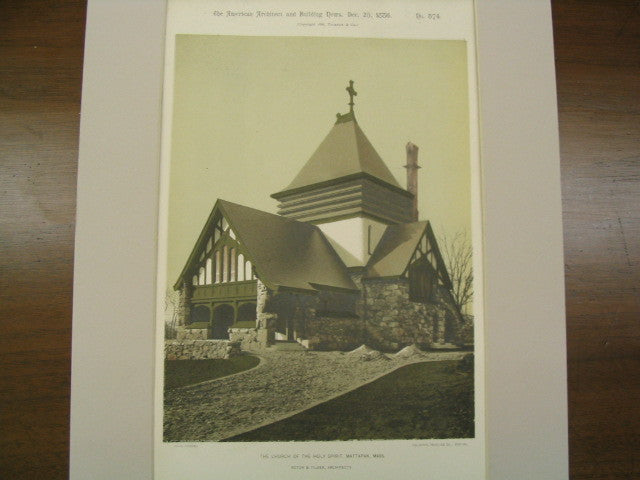 The Church of the Holy Spirit, Mattapan, MA, 1886, Rotch and Tilden