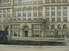 Chamber of Commerce, Portland, OR, 1891, Hodgson
