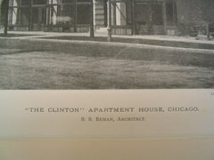 The Clinton Apartment House , Chicago, IL, 1890, S. S. Beman