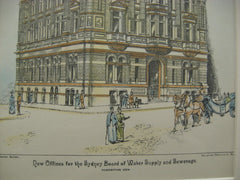 Board of Water Offices, Sydney, AUS, 1891, Unknown