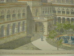 Maharajah Palace, Bhownugger, India, ASIA, 1895, W. Emerson