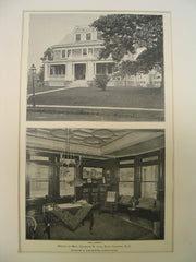 House of Mrs. Charles R. Lee, East Orange, NJ, 1898, Ludlow & Valentine