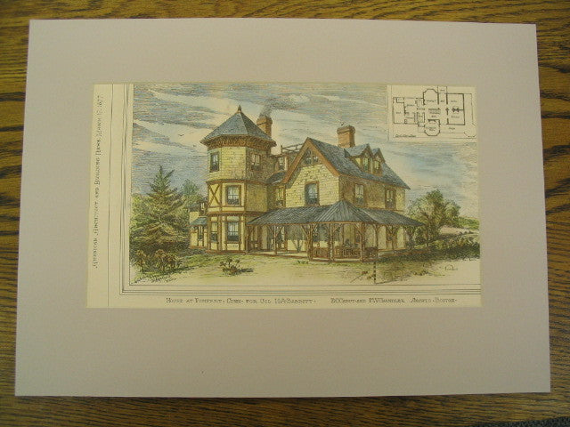 House at Pomfret, Conn. for Col. H.A. Babbitt, Pomfret, CT, 1877, E.C. Cabot and F.W. Chandler