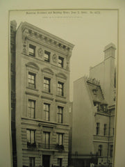 House of W.A. Reed at 4 East Sixty-Second Street, New York, NY, 1900, Clinton & Russell