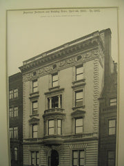 House of Isaac Stern on 858 Fifth Avenue, New York, NY, 1900, Cady, Berg & See