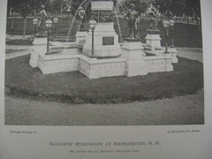 Soldiers' Monument, Manchester, NH, 1879, George Keller