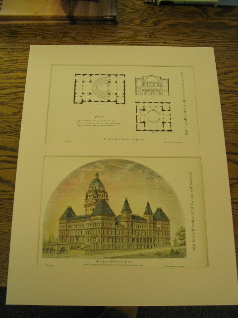 New State Capitol at Albany, General Persepctive View, Showing the Proposed Alterations, Albany, NY, 1876, n/a