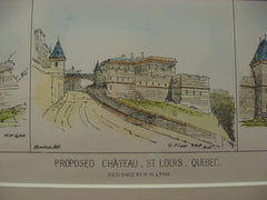 Proposed Chateau, St. Louis, CAN, 1877, W. H. Lynn