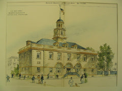 U. S. Post Office, Brockton, MA, 1898, James Knox Taylor