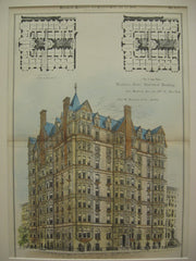 Hoffman Arms Apartment Building on the Corner of Madison Ave. and 59th Street, New York, NY, 1885, Cha. W. Romeyn and Co