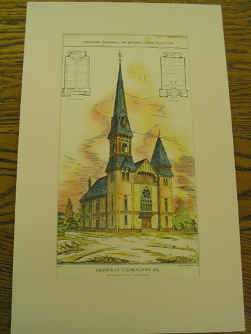 Church at Farmington, Farmington, ME, 1877, Starbuck & Vinal