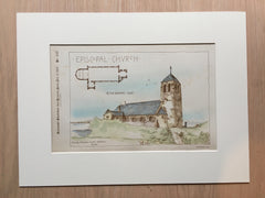 Episcopal Church, Kennebunkport, ME, 1887, Henry P Clark, Original Hand-colored