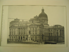 Capitol and State Buildings, Harrisburg, PA, 1893, Robert Mills