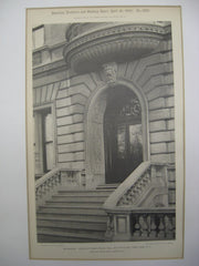 Entrance to the House of Isaac Stern on 858 Fifth Ave, New York, NY, 1900, Schickel and Ditmars