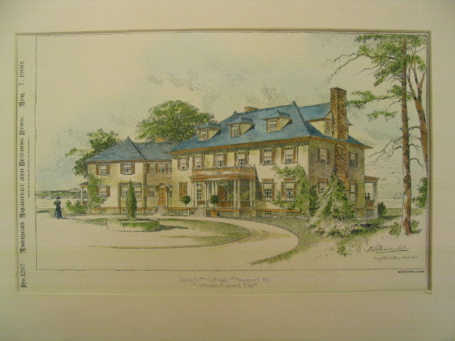 Cottage for William A. Grant, Newport, RI, 1900, Creighton Loitius