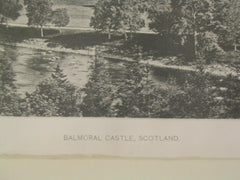 Balmoral Castle, Aberdeenshire, Scotland, UK, 1887