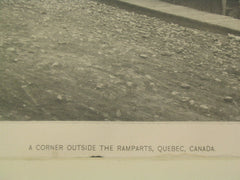 A Corner Outside the Ramparts, Quebec, CAN, 1887