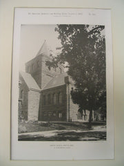Baptist Church, Newton, MA, 1887, H.H. Richardson
