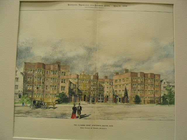 Richmond Court Apartments, Boston, MA, 1899, Cram, Goodhue and Ferguson