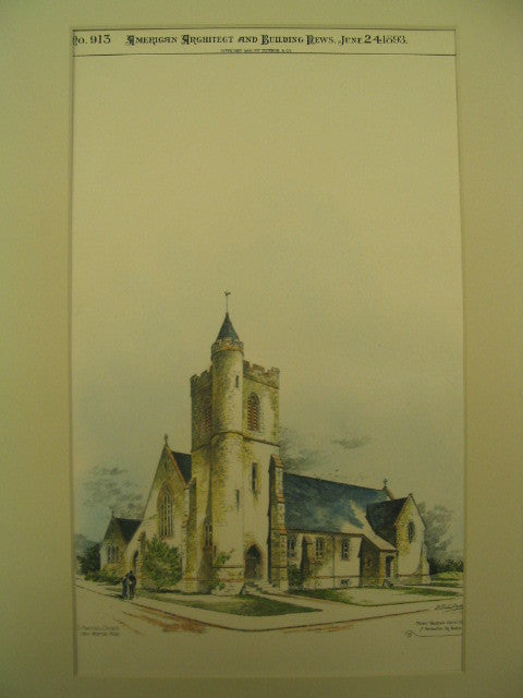 St. Martin's Church, New Bedford, MA, 1893, Henry Vaughan