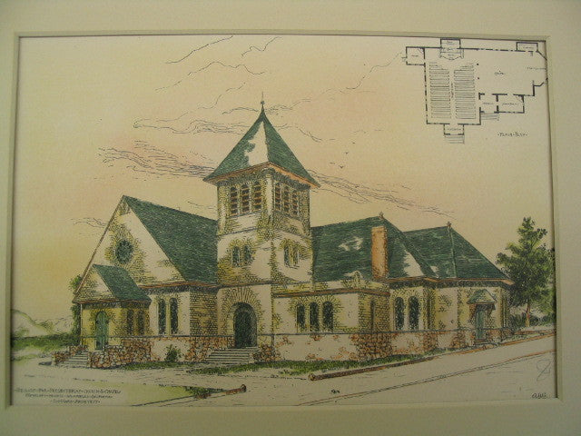 Presbyterian Church and Chapel, Los Angeles, CA, 1888, S.I. Haas