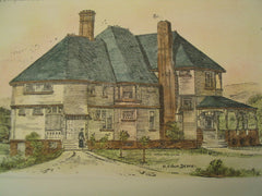House for William Casey, Tarrytown Heights, NY, 1894, Henry Rutgers Marshall