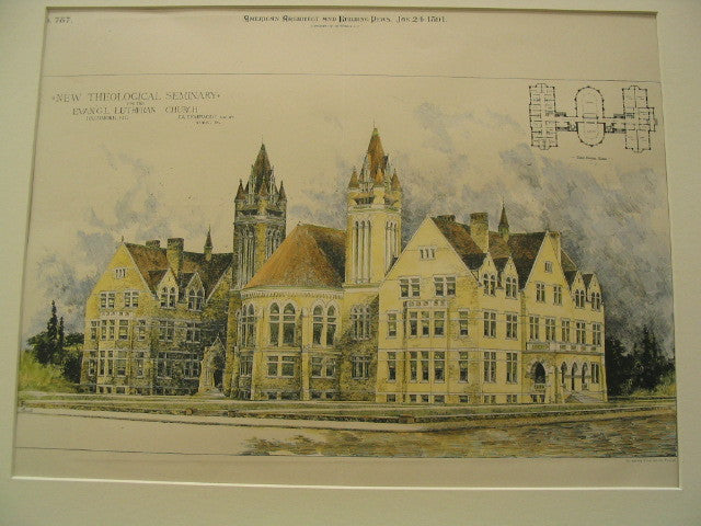 Theological Seminary for the Evangelical Lutheran Church, Baltimore, MD, 1891, J. A. Dempwolf