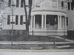 House for Professor C. E. Hart, New Brunswick, NJ, 1890, Henry Rutgers Marshall