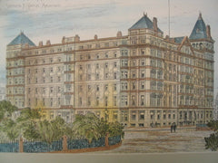 Murray Hill Hotel at Park Avenue, New York, NY, 1884, Stephen Hatch
