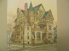 Residence of Dr. L. C. Warner on the corner of 5th Avenue and 126th Street, New York, NY, 1884, A. B. Jennings