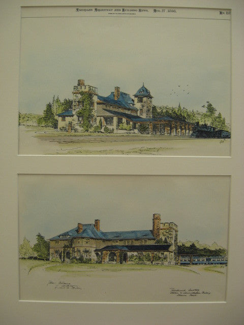 Knollwood Cemetery Station and Administrative Building, Sharon/Canton, MA, 1898
