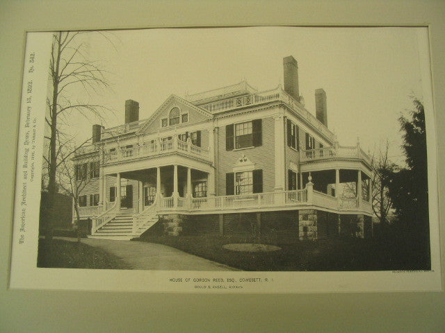 Gordon Reed House , Cowesett, RI, 1892, Gould and Angell