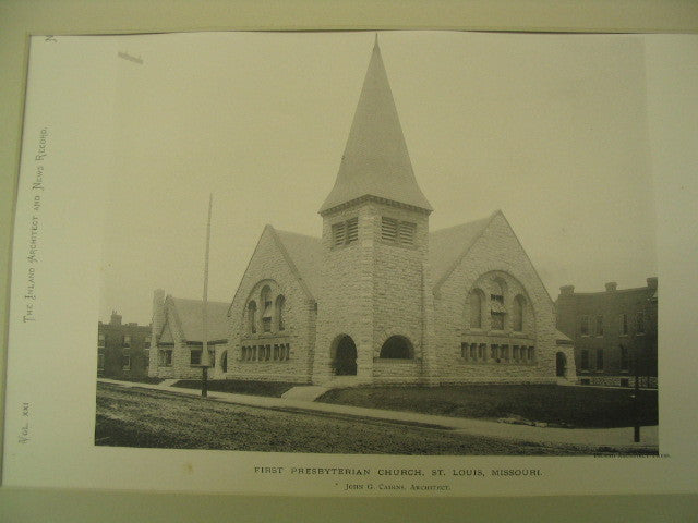 First Presbyterian Church, St. Louis, MO, 1891, John G. Cairns
