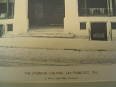 Atkinson Building, San Francisco, CA, 1893, A. Page Brown,