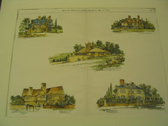 Five houses in Brookline, Milton and Newton Centre, Milton, MA, 1896, J. A. Scweinfurth