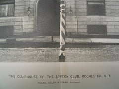 The Club-House of the Eureka Club, Rochester, NY, 1898, Nolan, Nolan and Stern