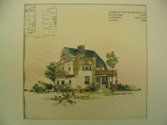 Gardener's Cottage for Ezra R. Vail, Williamstown, MA, 1894, F. R. Comstock