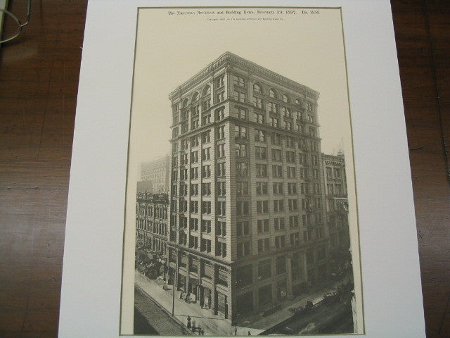 Dearborn Building, Chicago, IL, 1897, Jenny and Mundie