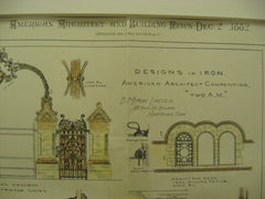 Designs in Iron for the American Architect Competition, 1882