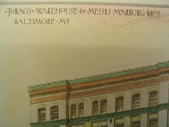 Tobacco Warehouse for Messrs. Marburg Bros , Baltimore, MD, 1887, Charles L. Carson