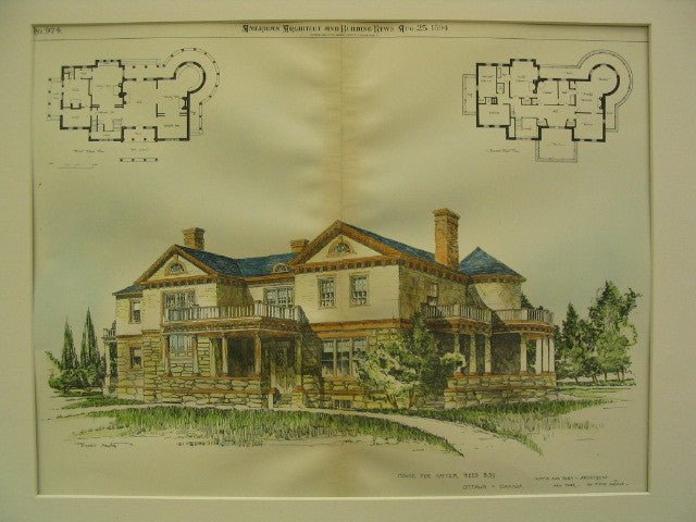 House for Hayter Reed, Ottawa, CAN, 1894, Hoppin and Koen