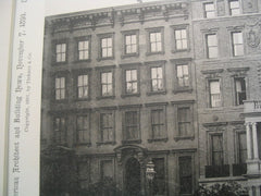 House of J. Hampden Robb on Park Avenue, New York, NY, 1891, McKim, Mead and White