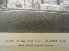 Church of the First Parish, Brighton, MA, 1896, Cabot, Everett and Mead