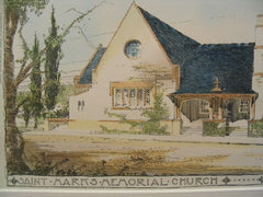St. Mark's Memorial Church, St. Louis, MO, 1900, Theo. C. Link