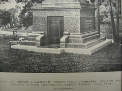 Tomb of George L. Randidge at Forest Hills Cemetery, Boston, MA, 1891, Fehmer and Page