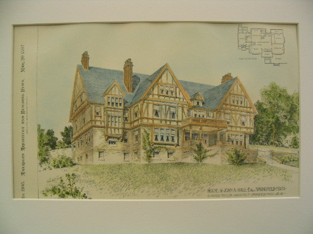 House of John A. Hall, Springfield, MA, 1897, G. Wood Taylor